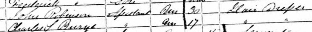 1861 England Census For Charles S Burge Hair Dresser Age 17
