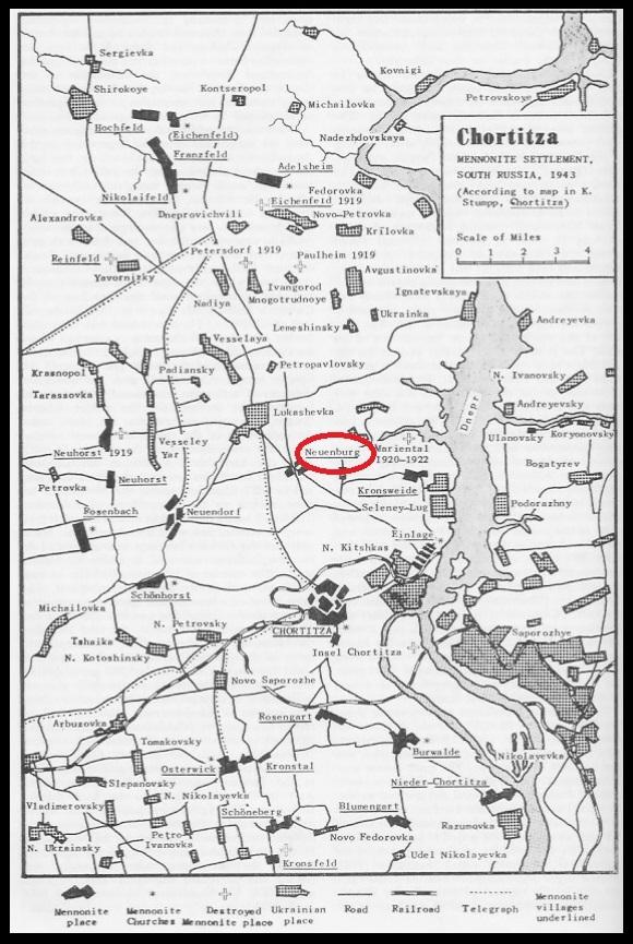 Chortitza Colony Map